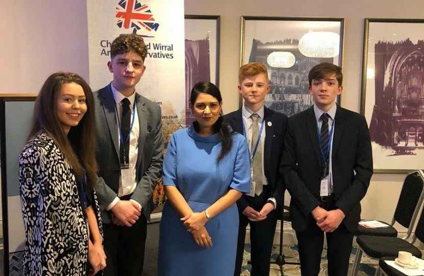 The Rt Hon Priti Patel MP with some of our young conservatives